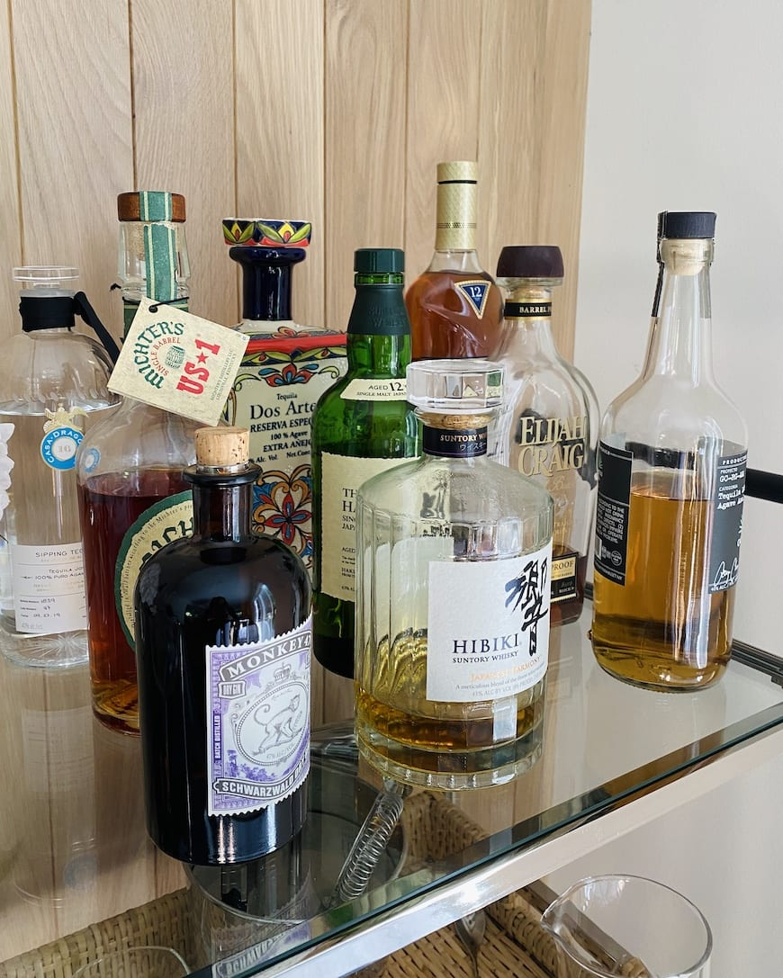 Bar Cart 101 from www.whatsgabycooking.com (@whatsgabycookin)