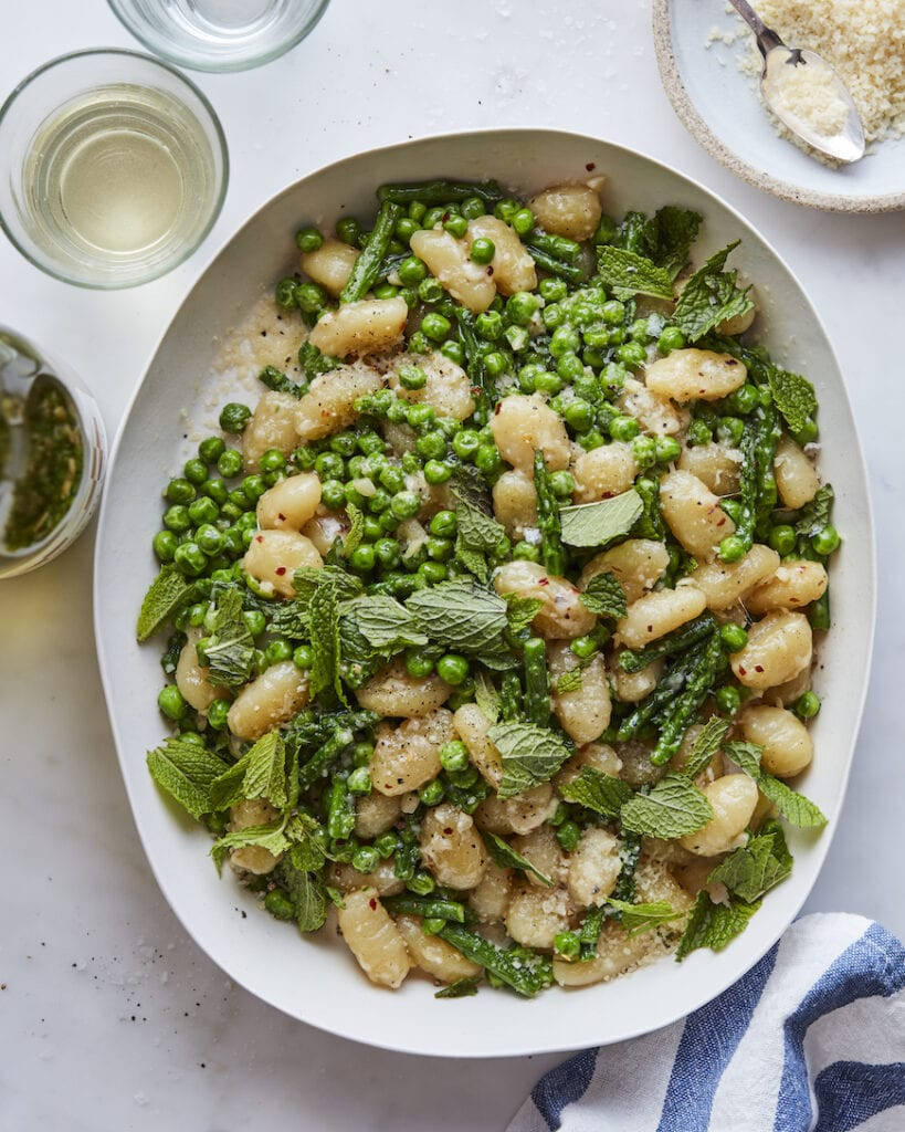 Gnocchi with Peas and Asparagus the Easter Dinner Menu on from www.whatsgabycooking.com (@whatsgabycookin)