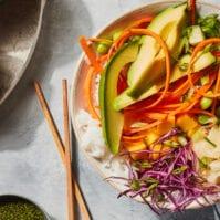 Vegetarian Avocado Sushi Bowls from www.whatsgabycooking.com (@whatsgabycookin)