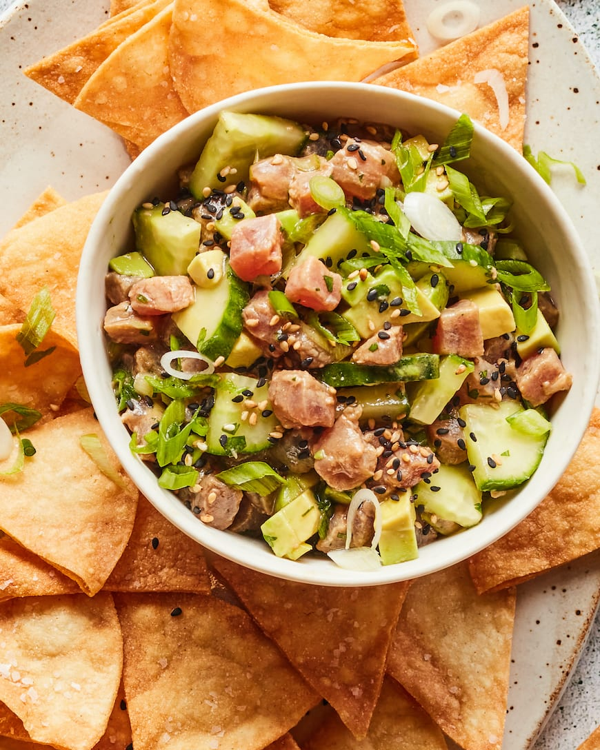 Cucumber Avocado Ahi Ceviche from www.whatsgabycooking.com (@whatsgabycookin)