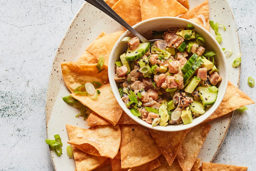 Ahi Cucumber Avocado Ceviche from www.whatsgabycooking.com (@whatsgabycookin)