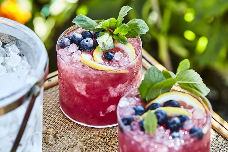 Blueberry Mint Bourbon Lemonade