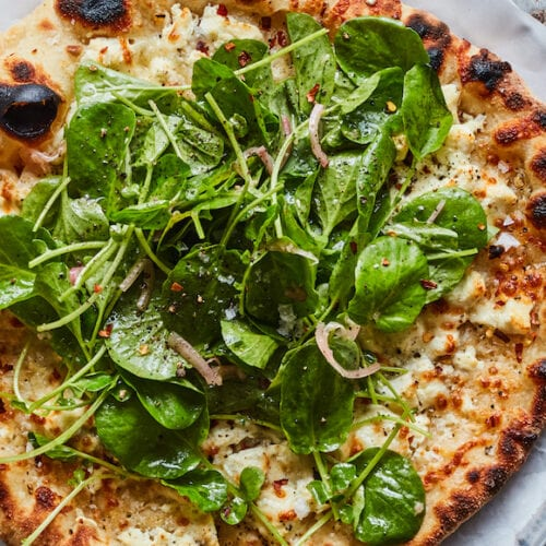 Salad Pizza from www.whatsgabycooking.com (@whatsgabycookin)