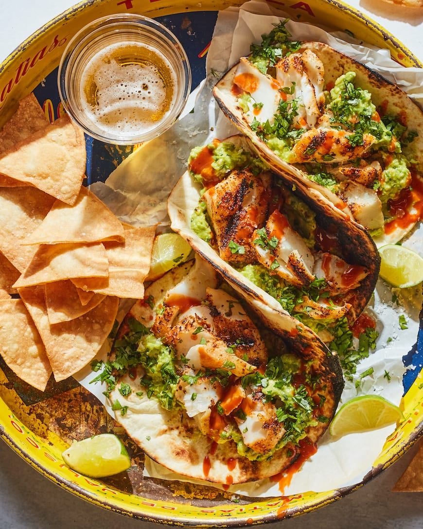 Smashed Avocado Fish Tacos from www.whatsgabycooking.com (@whatsgabycookin)