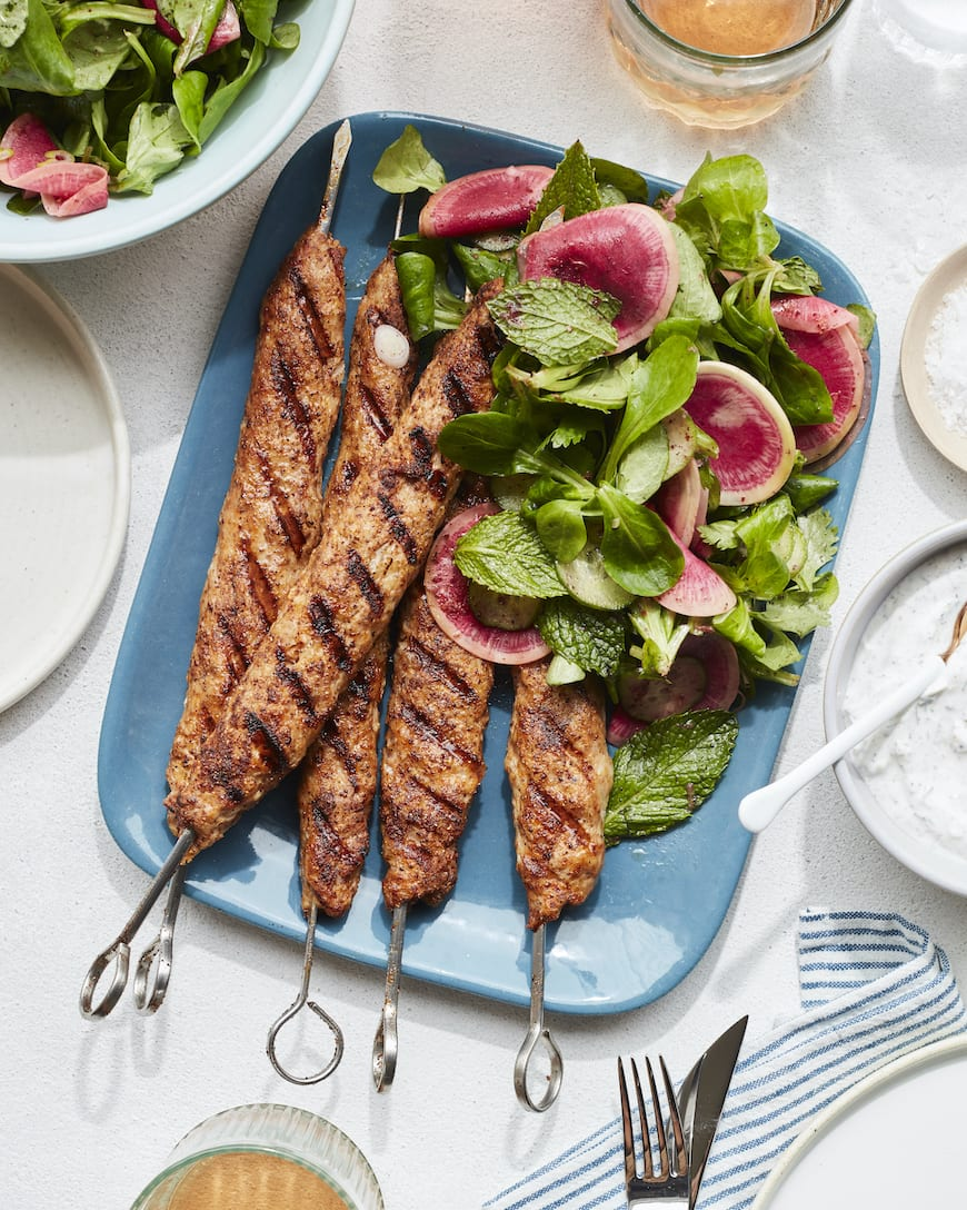Spiced Chicken Kebabs from www.whatsgabycooking.com (@whatsgabycookin)