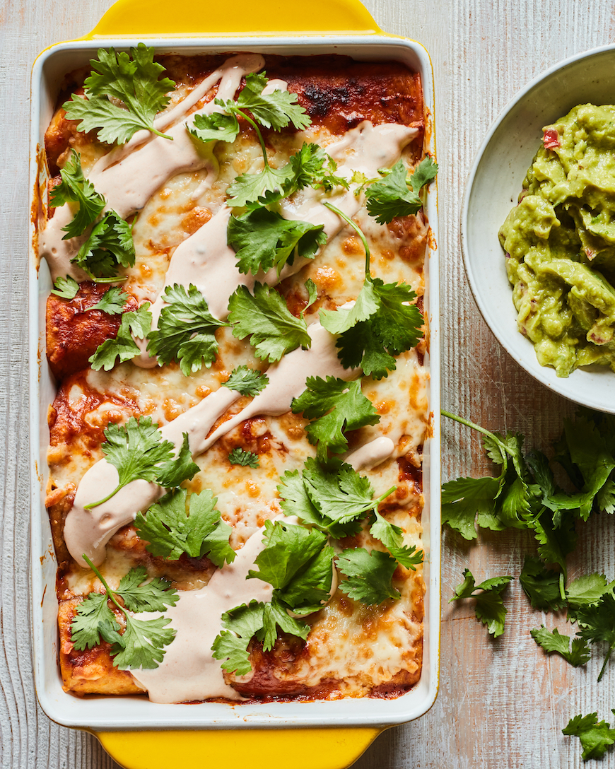 Bean and Cheese Enchiladas from www.whatsgabycooking.com (@whatsgabycookin)