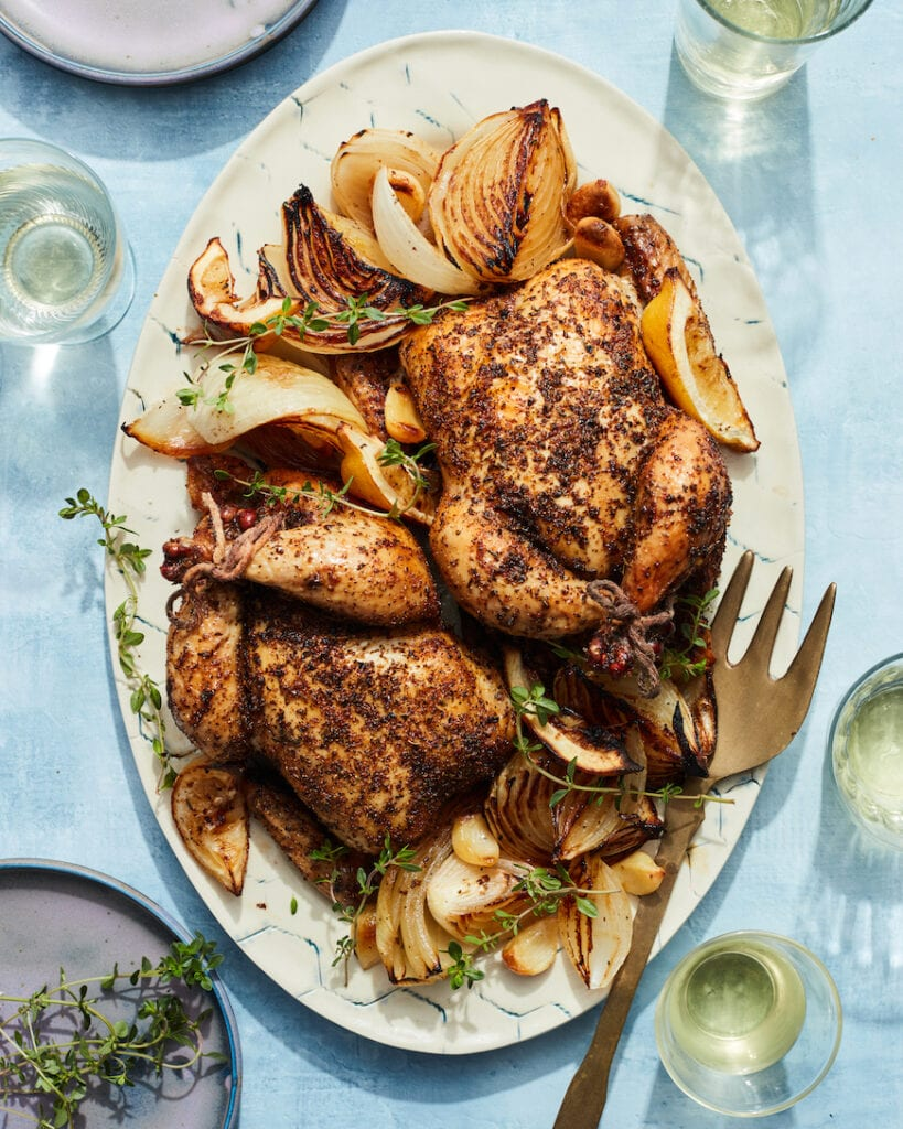 Dad's Roasted Cornish Hens from www.whatsgabycooking.com (@whatsgabycookin)