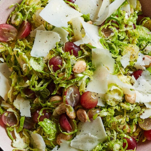Shaved Brussels Salad from www.whatsgabycooking.com (@whatsgabycookin)