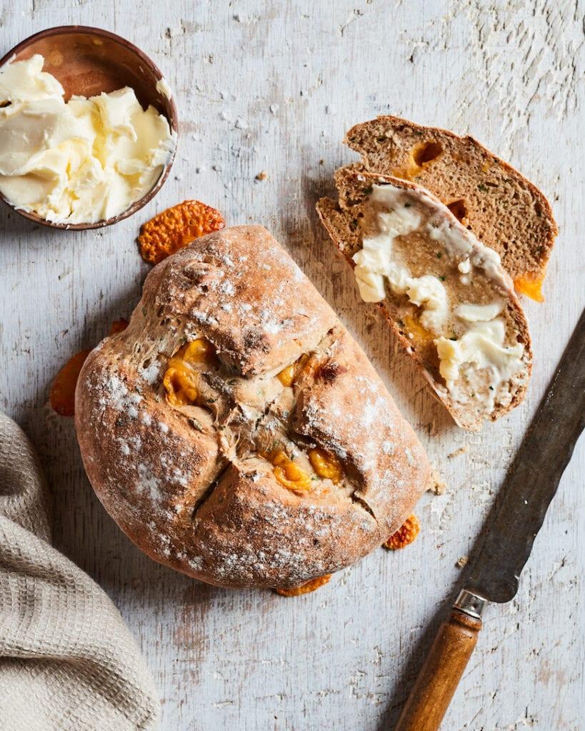 Cheddar and Chive Savory Irish Soda Bread from www.whatsgabycooking.com (@whatsgabycookin)