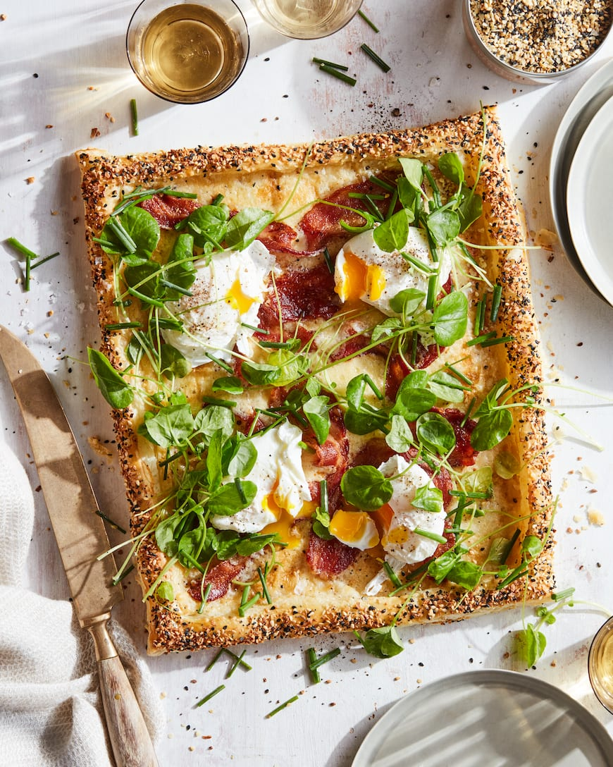 Bacon and Egg Puff Pastry Tart from www.whatsgabycooking.com (@whatsgabycookin)