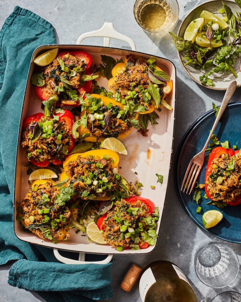 Coconut Curry Stuffed Peppers from www.whatsgabycooking.com (@whatsgabycookin)