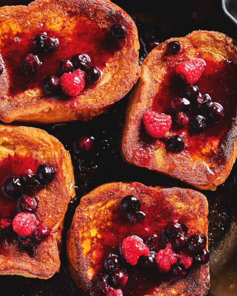 Caramelized French Toast with a Berry Compote from www.whatsgabycooking.com (@whatsgabycookin)