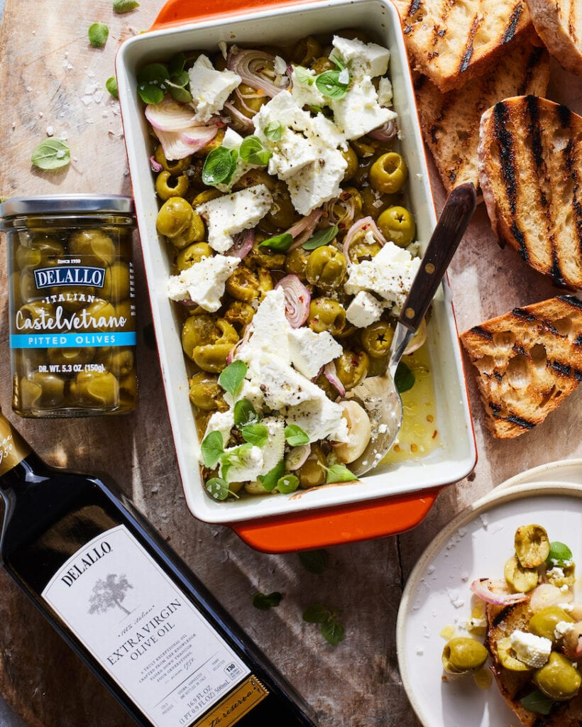 Spicy Roasted Castelvetrano Olives with Feta from www.whatsgabycooking.com (@whatsgabycookin)
