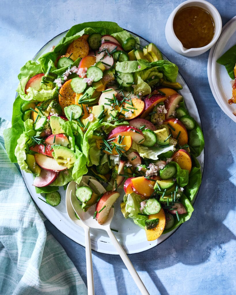 Avocado Peach Summer Salad from www.whatsgabycooking.com (@whatsgabycookin)