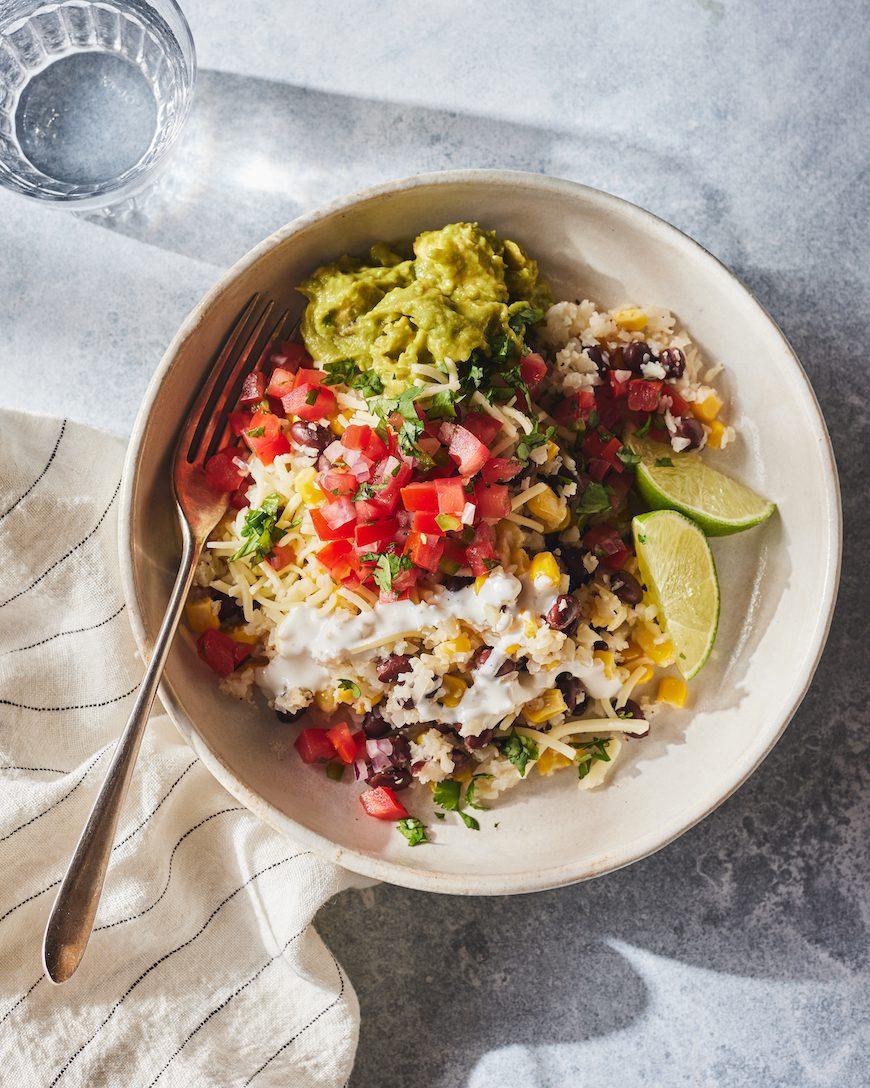 Cauliflower Rice Veggie Burrito Bowl from www.whatsgabycooking.com (@whatsgabycookin)
