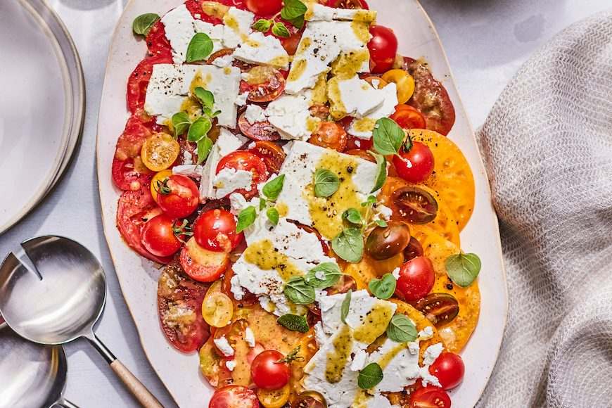 Herby Marinated Tomato and Feta Salad from www.whatsgabycooking.com (@whatsgabycookin)