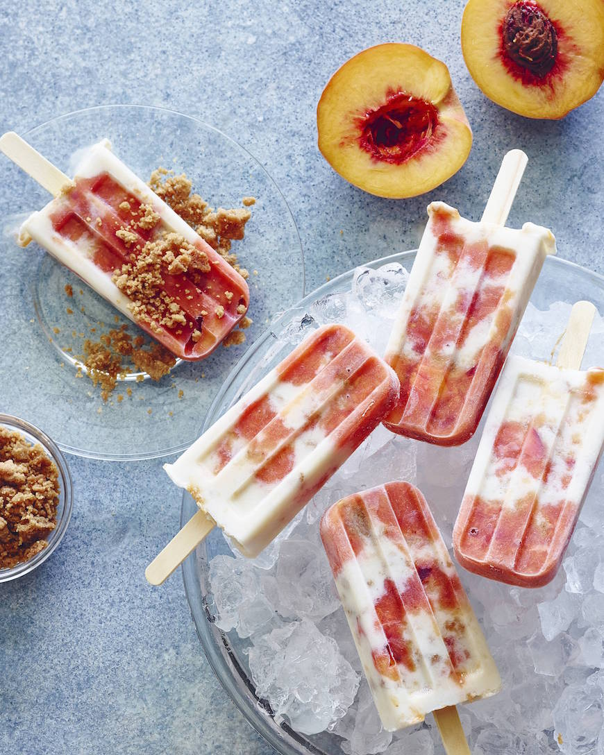 Peaches 'n Cream Pops from www.whatsgabycooking.com (@whatsgabycookin)