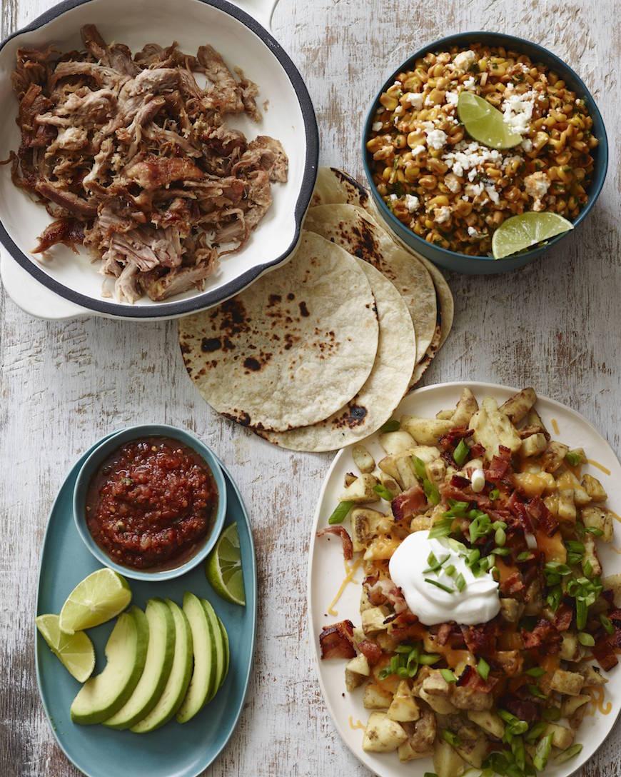 BBQ Corn Salad and Carnitas Tacos from www.whatsgabycooking.com (@whatsgabycookin)