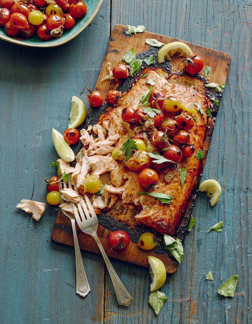Cedar Plank Salmon from www.whatsgabycooking.com (@whatsgabycookin)