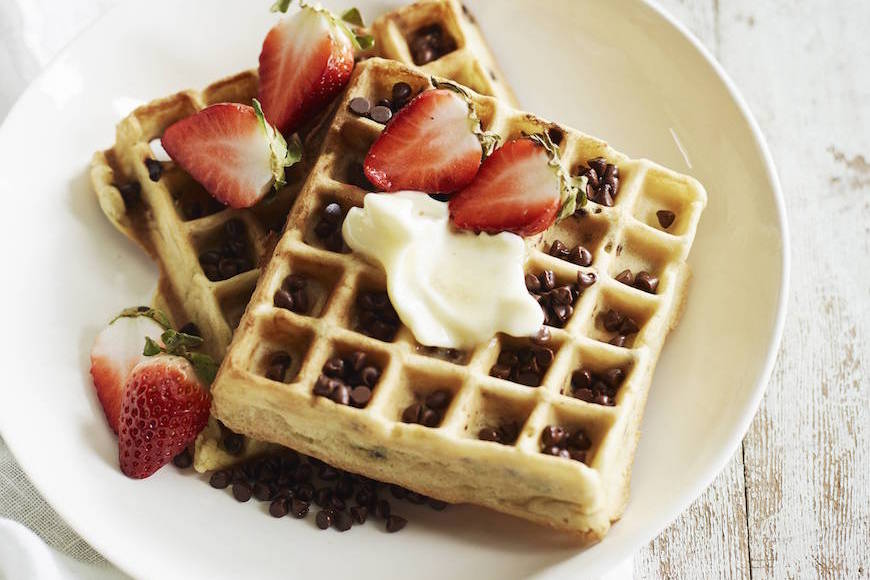 Chocolate Chip Almond Waffles What S Gaby Cooking