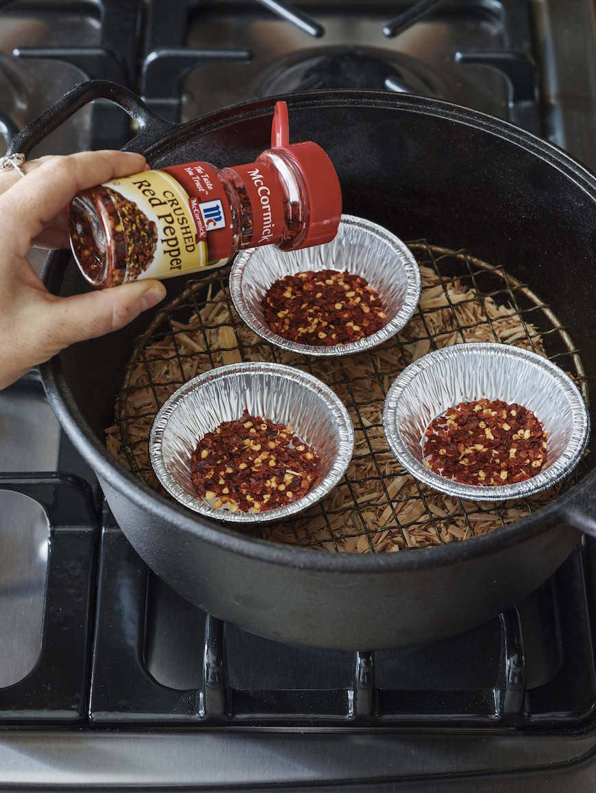 DIY Smoked Spices with Red Pepper Flakes