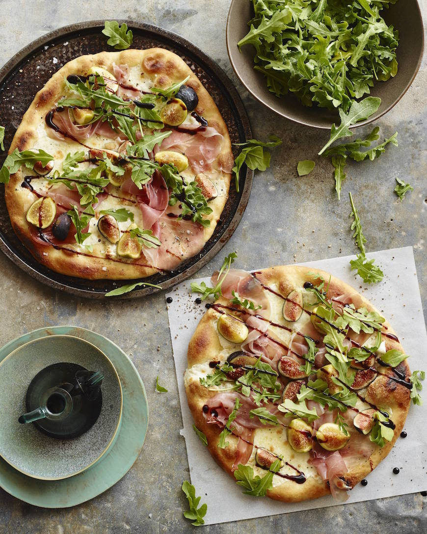 Arugula Fig Pizza from www.whatsgabycooking.com (@whatsgabycookin)