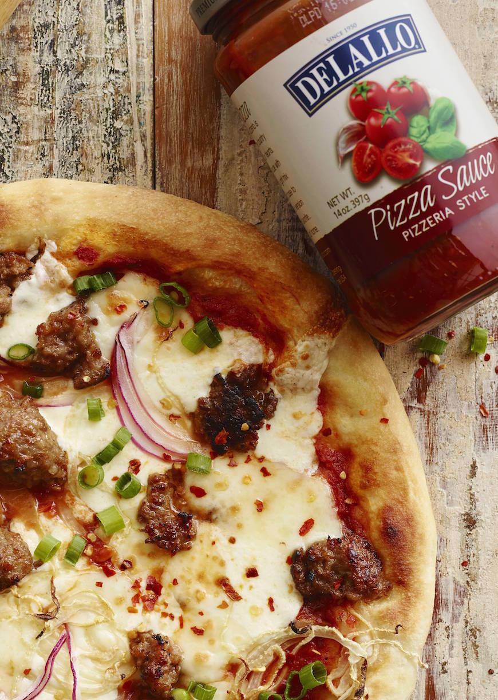 Smoked Mozzarella and Sausage Pizza from www.whatsgabycooking.com (@whatsgabycookin)