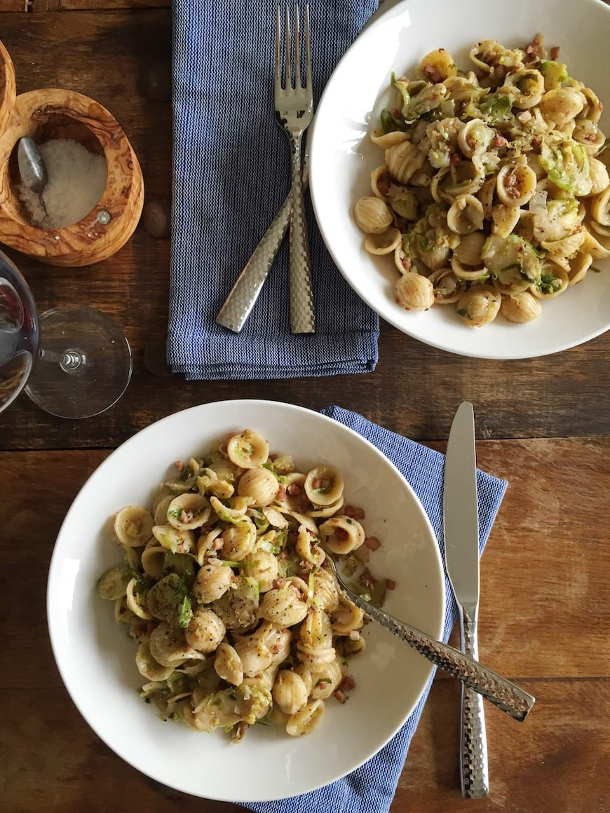 Balsamic Cream Brussels Sprouts Pasta