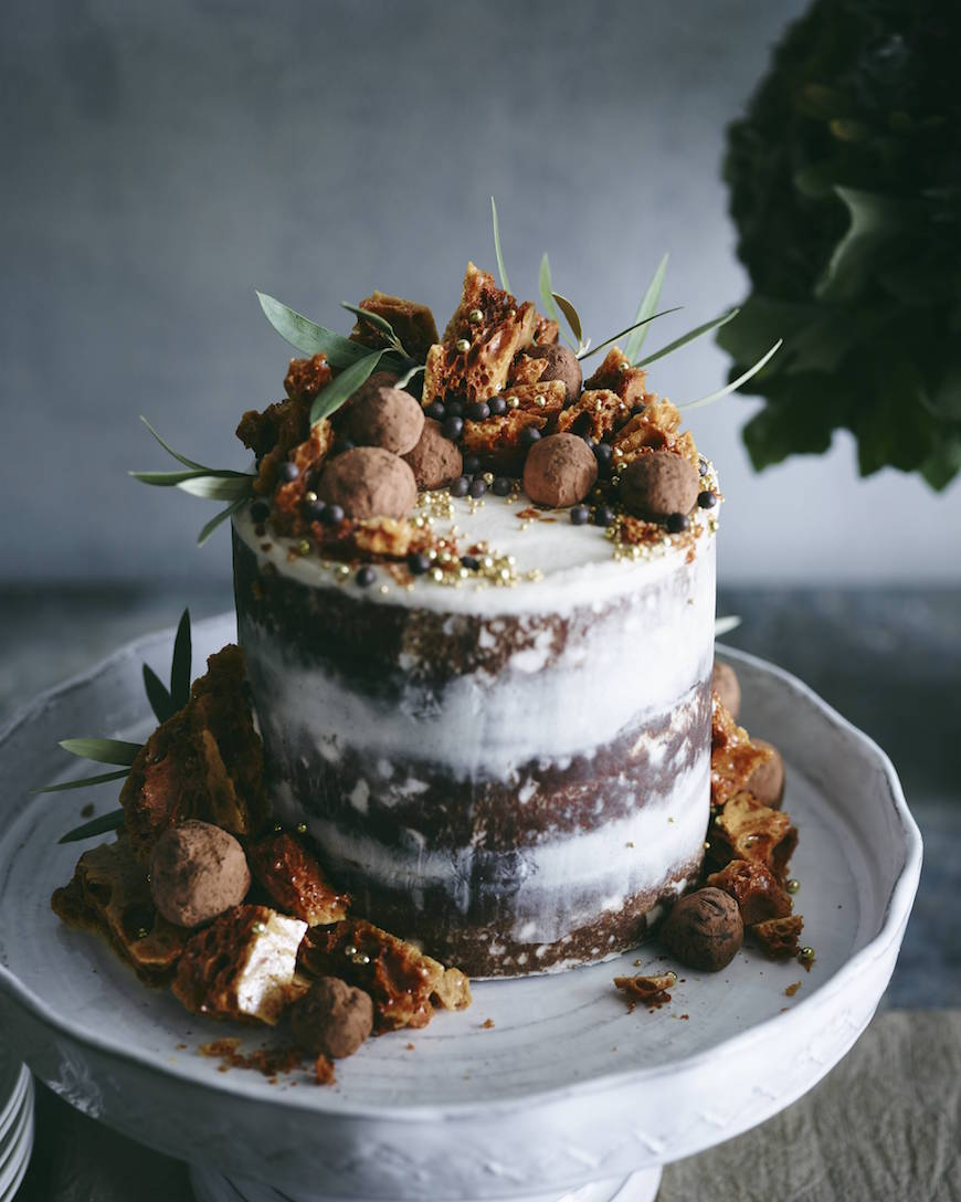 Triple Layer Pumpkin Chocolate Chip Cake from www.whatsgabycooking.com (@whatsgabycookin)