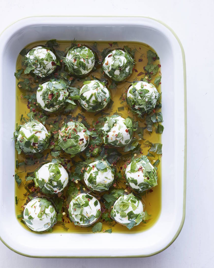 Herbed Goat Cheese Balls from www.whatsgabycooking.com (@whatsgabycooking)