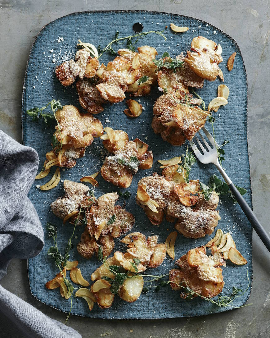 Herb Smashed Potatoes from www.whatsgabycooking.com (@whatsgabycookin)