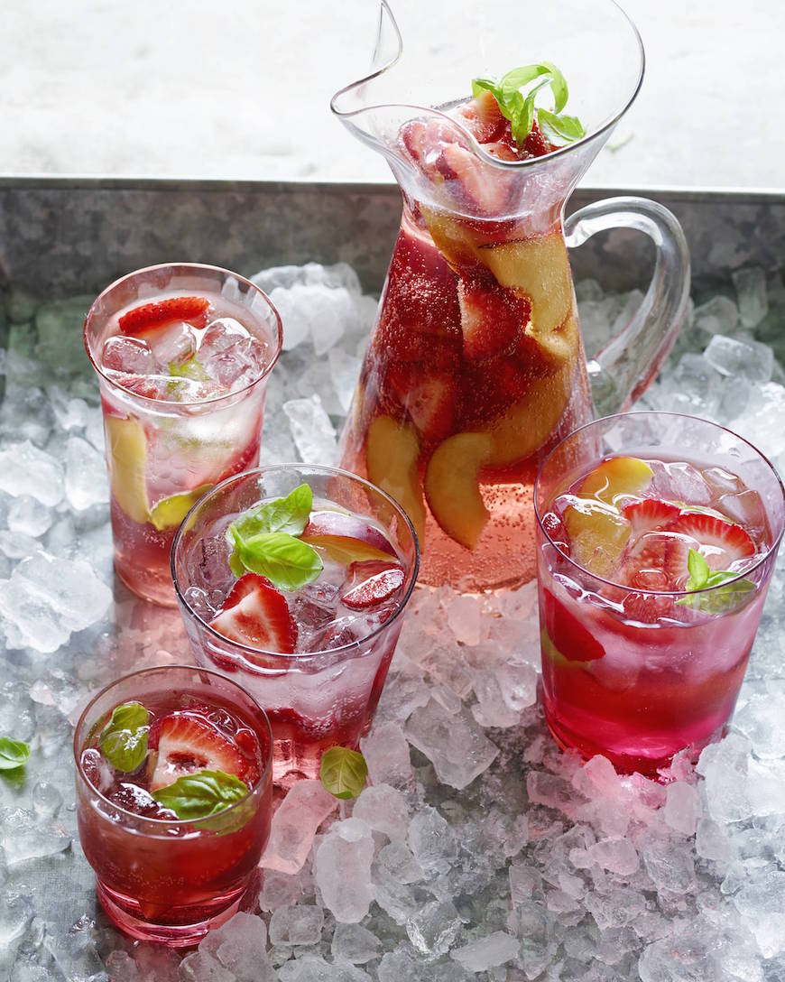 Peach and Cherry Sangria from www.whatsgabycooking.com for the ultimate Memorial Day Menu (@whatsgabycookin)