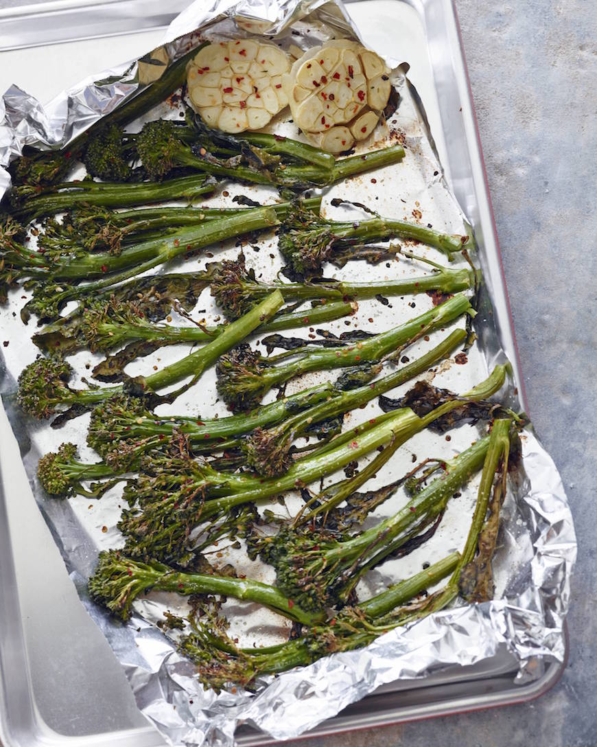 Roasted Broccolini with Garlic and Parmesan from www.whatsgabycooking.com (@whatsgabycookin)