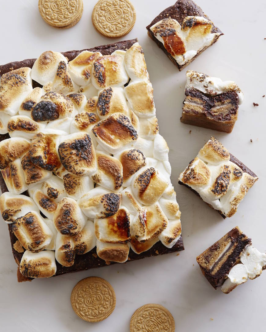 S'more Slutty Brownies from www.whatsgabycooking.com - the most incredible treat you could imagine (@whatsgabycookin)