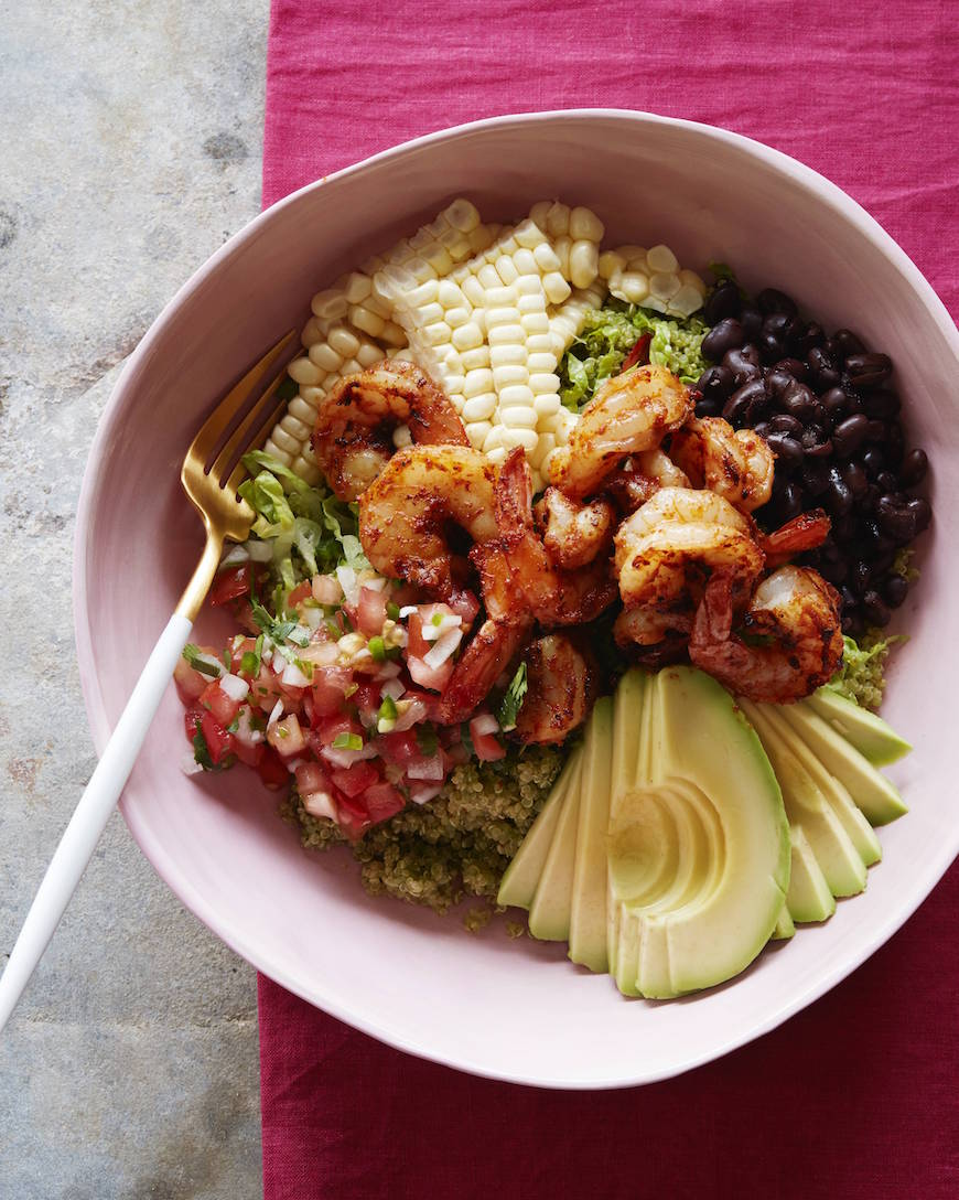 Avocado Shrimp Quinoa Bowl from www.whatsgabycooking.com (@whatsgabycookin)