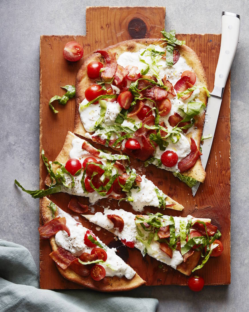 BLT Flatbread from www.whatsgabycooking.com (@whatsgabycookin)
