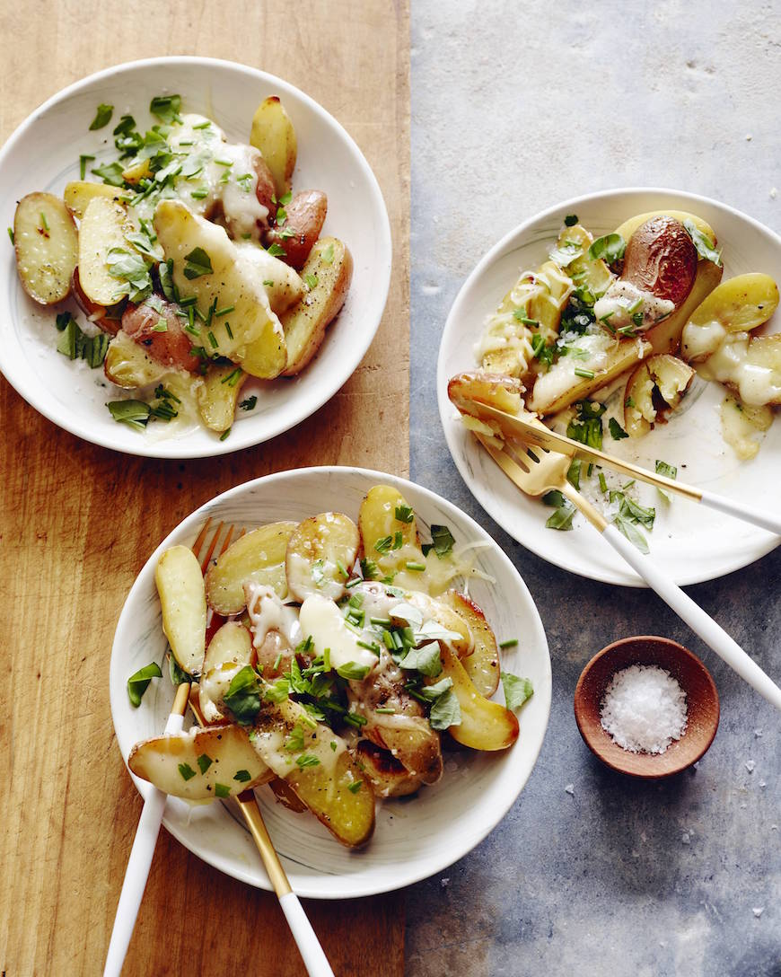 Cheesy Roasted Fingerling Potatoes from www.whatsgabycooking.com (@whatsgabycookin)