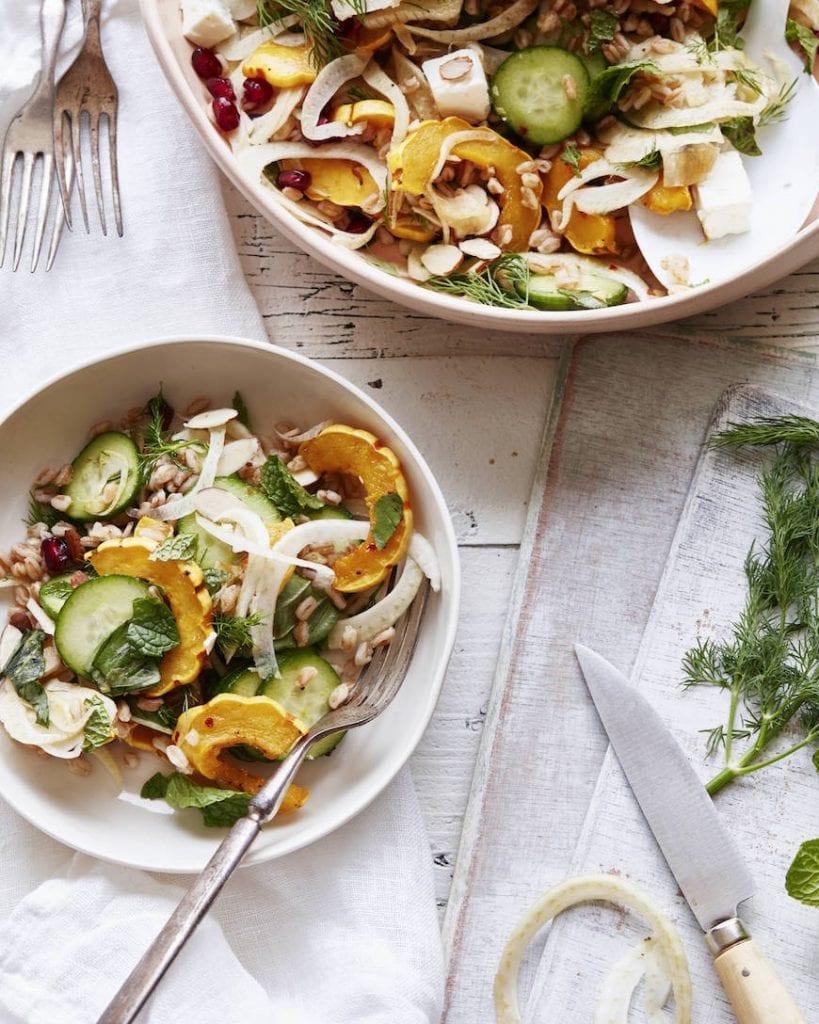 Farro Delicata Squash Salad