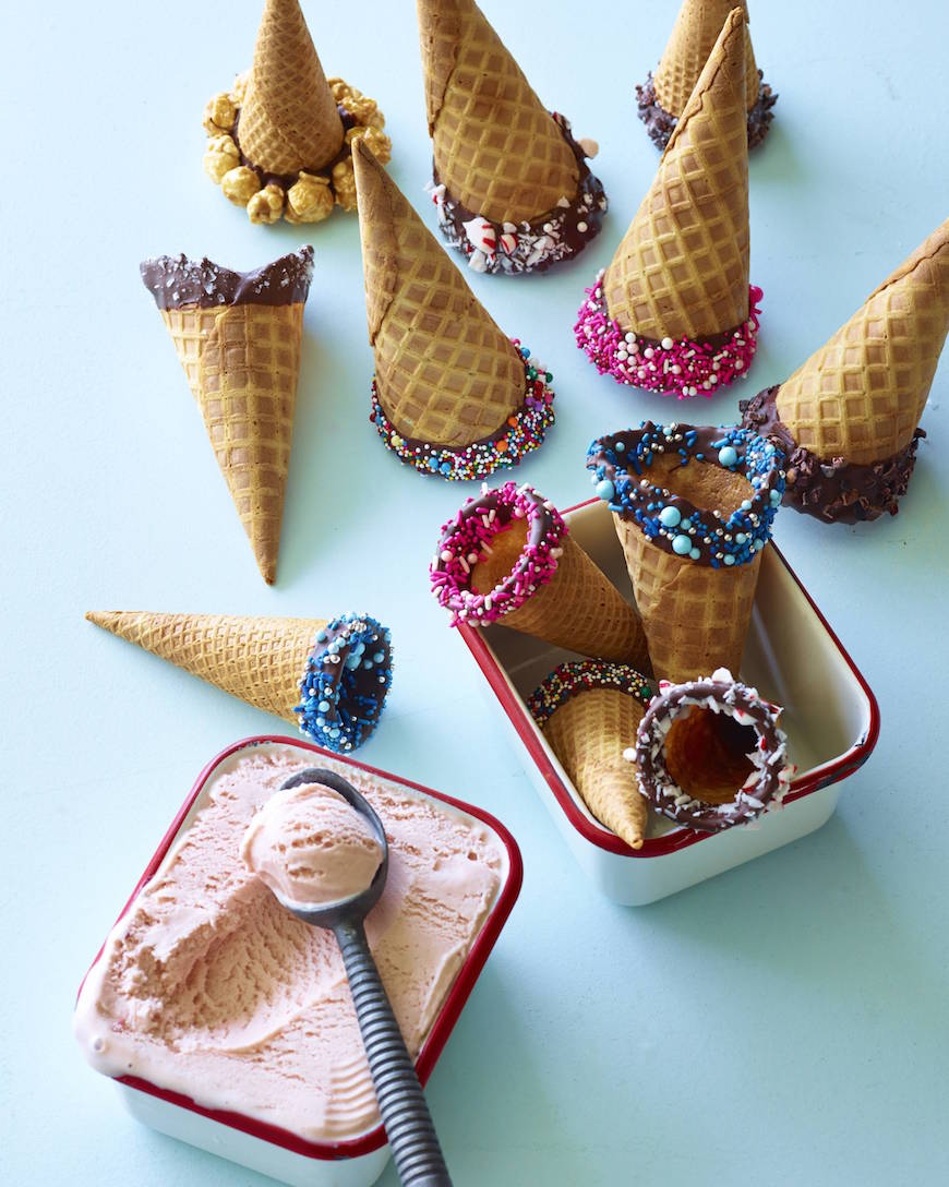 DIY Dipped Ice Cream Cones from www.whatsgabycooking.com (@whatsgabycookin)
