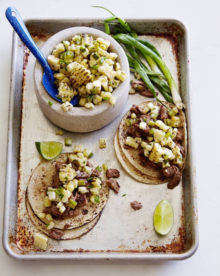 Steak Tacos with Corn Relish from www.whatsgabycooking.com (@whatsgabycookin)